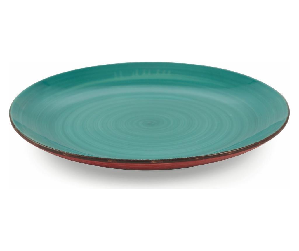 Set 6 farfurii intinse Clara Turquoise - Villa D'Este Home Tivoli, Multicolor poza