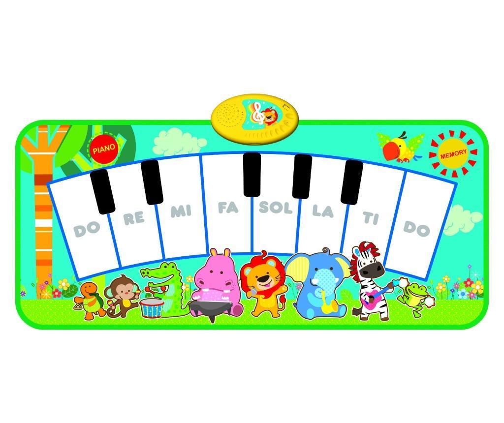 Covor muzical cu activitati Grassland Piano 35x80 cm imagine