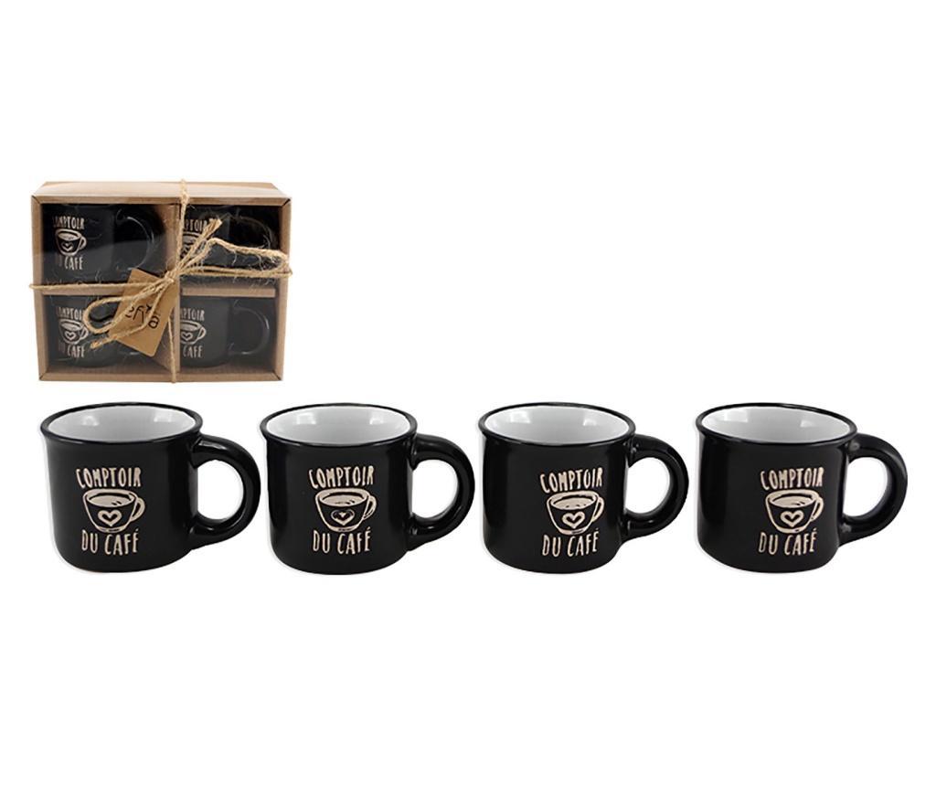 Set 4 cesti pentru cafea Comptoir 90 ml