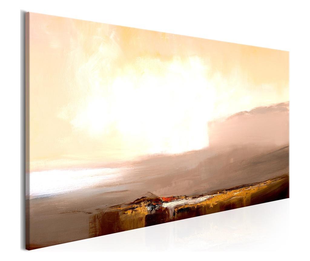 Tablou Beginning of the End (1 Part) Beige Narrow 150x50 - Artgeist, Multicolor imagine