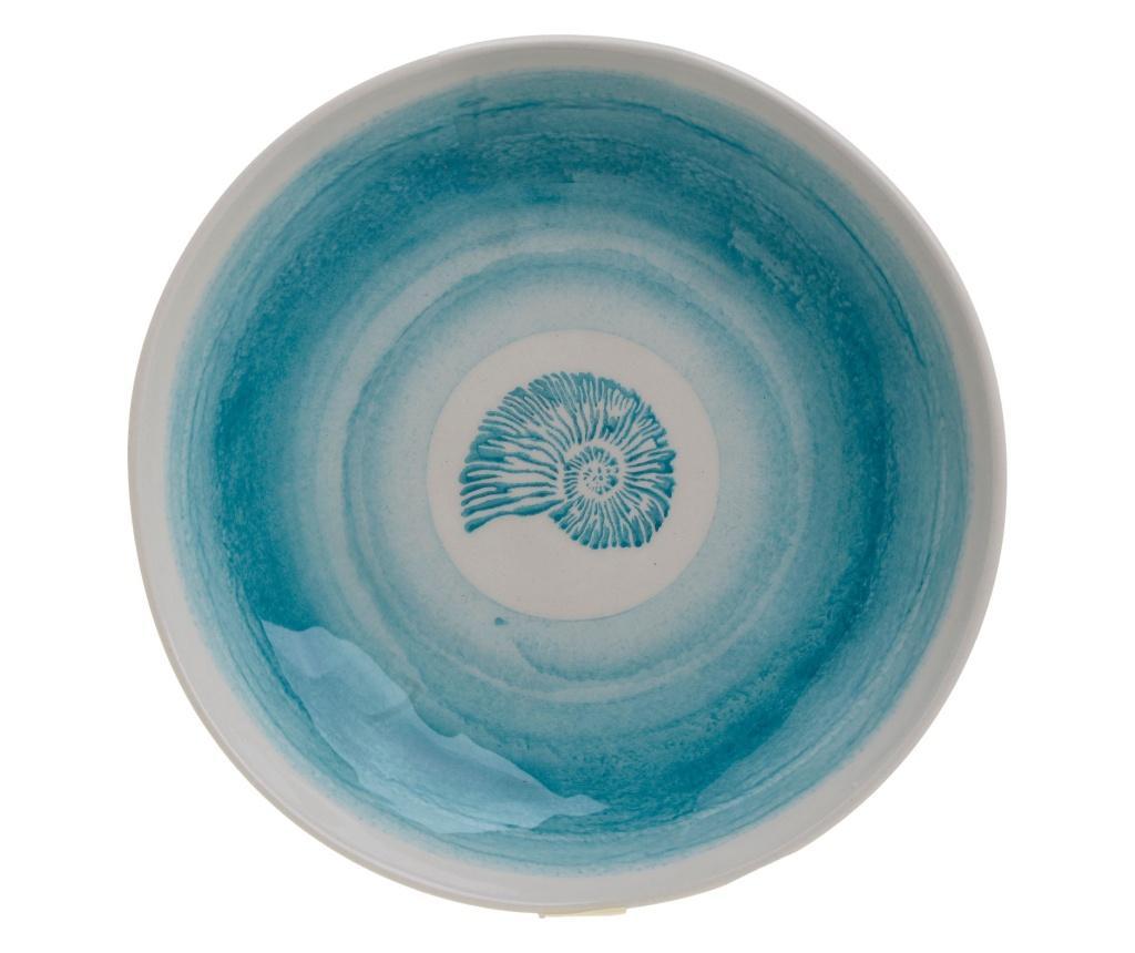 Bol Shell - inart, Alb,Albastru imagine