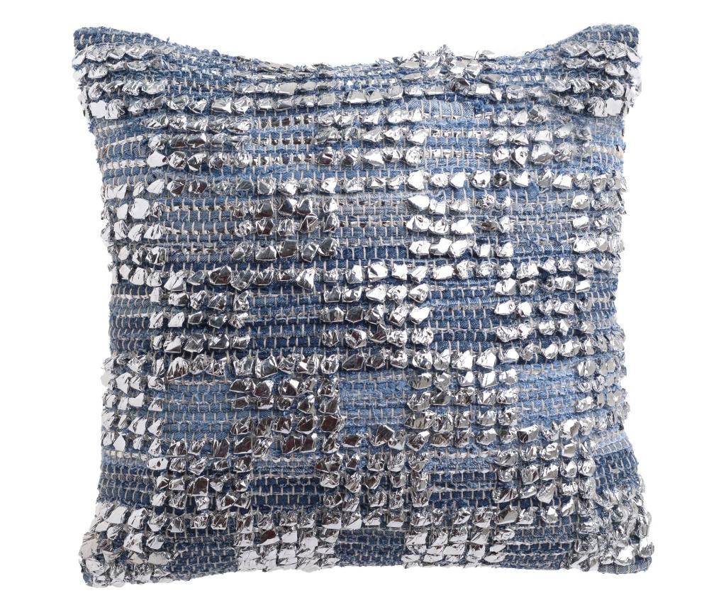 Perna decorativa - inart, Albastru,Gri & Argintiu
