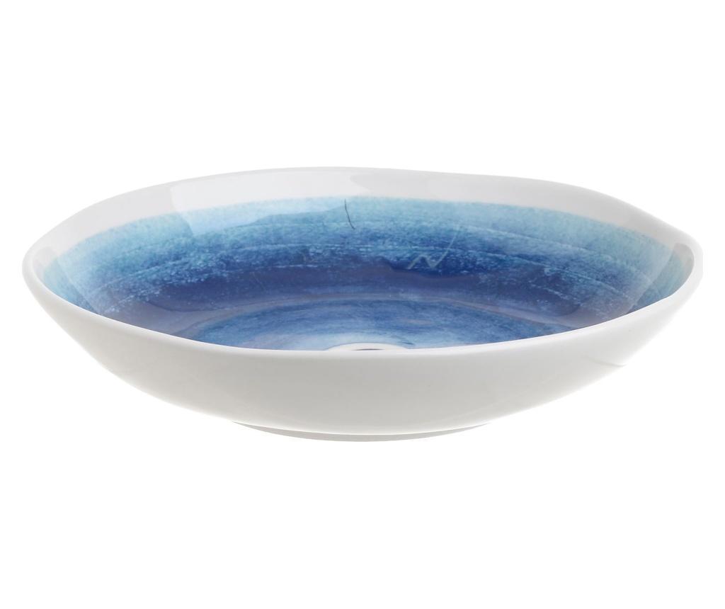 Bol Eye Blue - inart, Alb,Albastru imagine