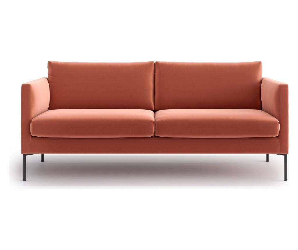 Canapea 3 locuri Svea Powder Pink - Optisofa, Roz imagine