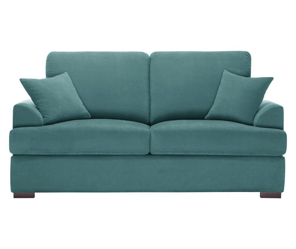 Canapea extensibila 2 locuri Irina Light Blue - Jalouse Maison, Albastru