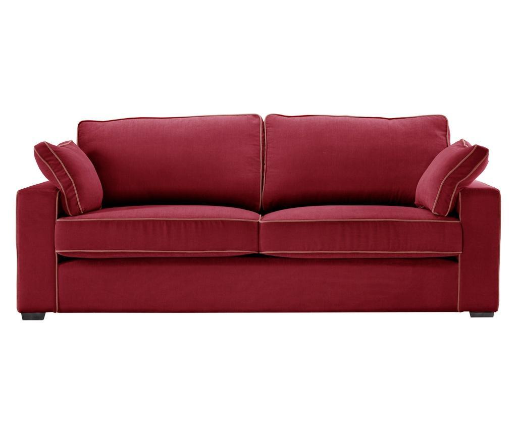 Canapea 3 locuri Serena Glamour Red imagine
