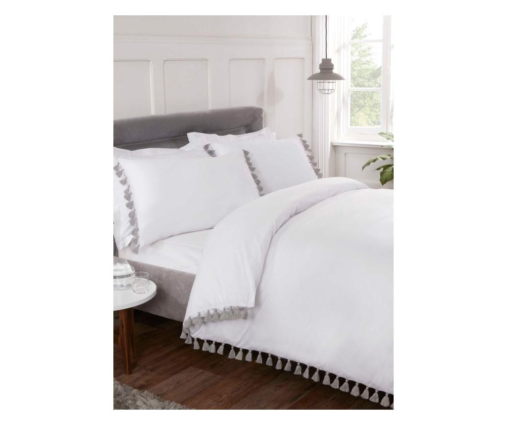Set de pat King Tassel R White - Rapport Home, Alb poza