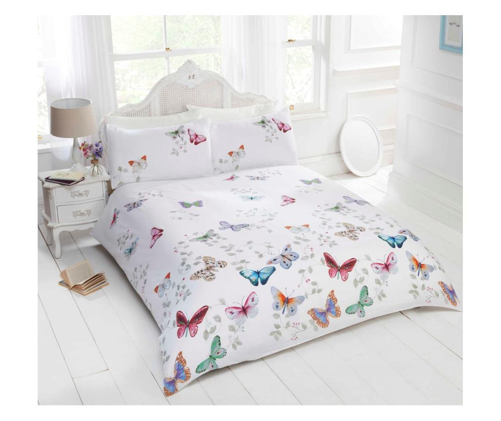 Set de pat Double Extra Mariposa - Rapport Home, Multicolor poza