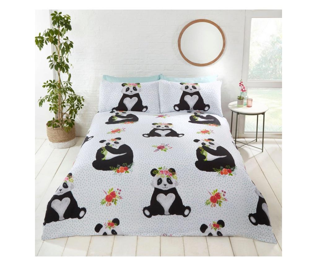 Set de pat Double Extra Pandas - Rapport Home, Multicolor poza