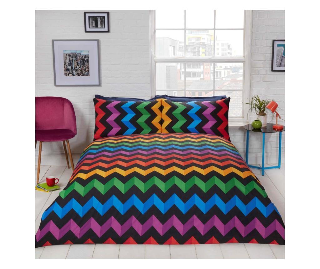 Set de pat Double Extra Three D Multicolor - Rapport Home, Multicolor imagine