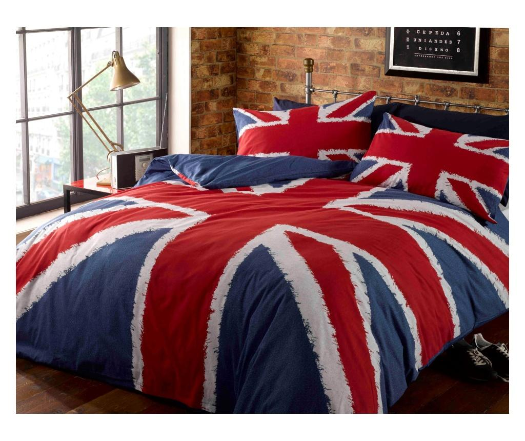 Set de pat Single Union Jack - Rapport Home, Multicolor poza