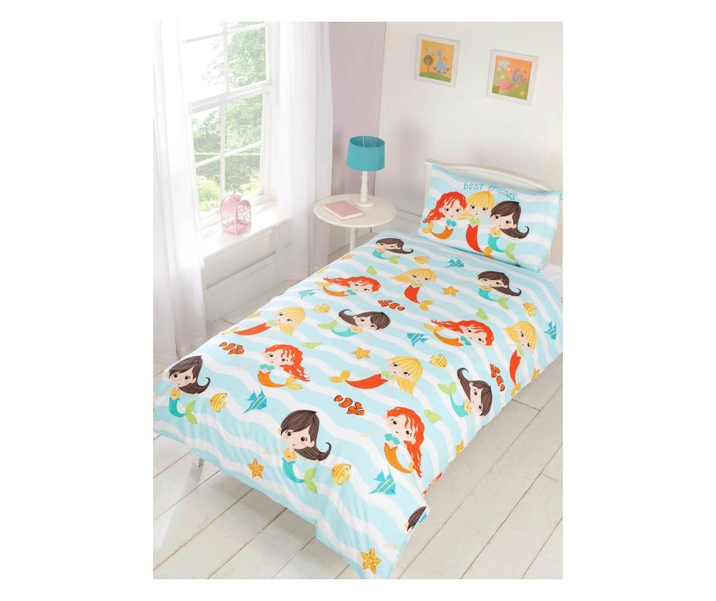 Set de pat Single Mermaid - Rapport Home, Multicolor poza