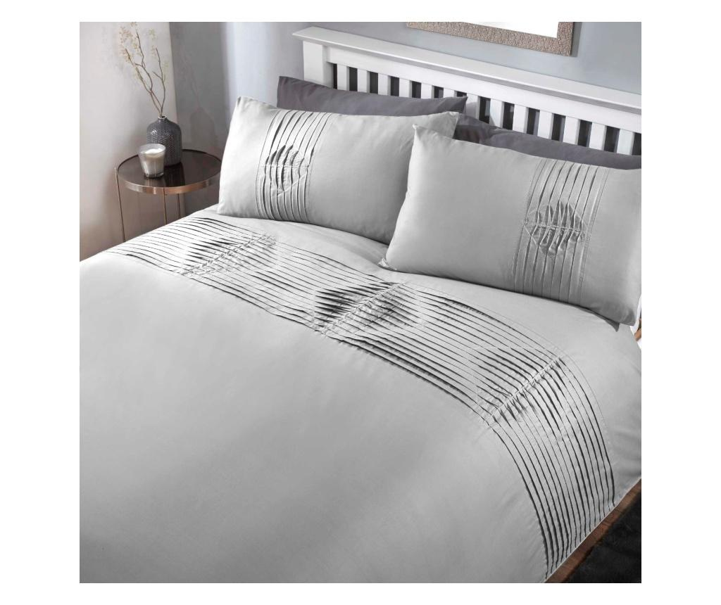 Set de pat Double Boston Grey - Rapport Home, Multicolor poza