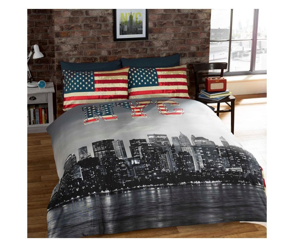 Set de pat Double Extra NYC - Rapport Home, Multicolor poza