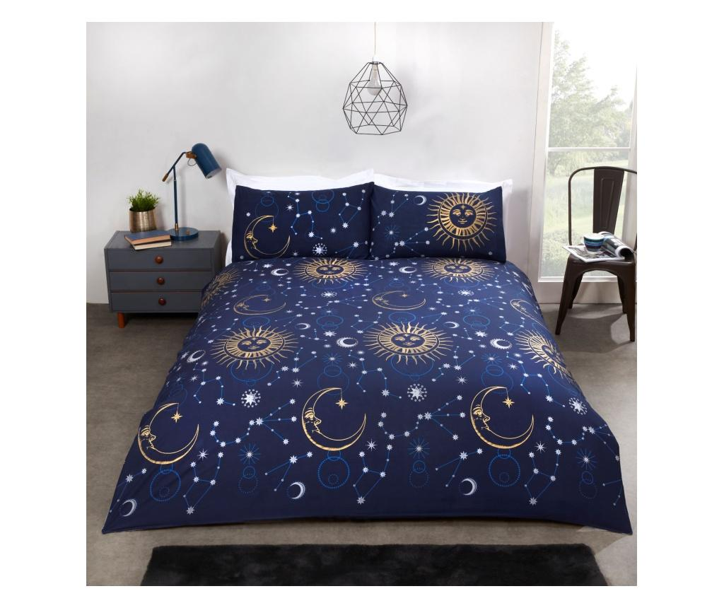 Set de pat Double Celestial Blue - Rapport Home, Multicolor poza