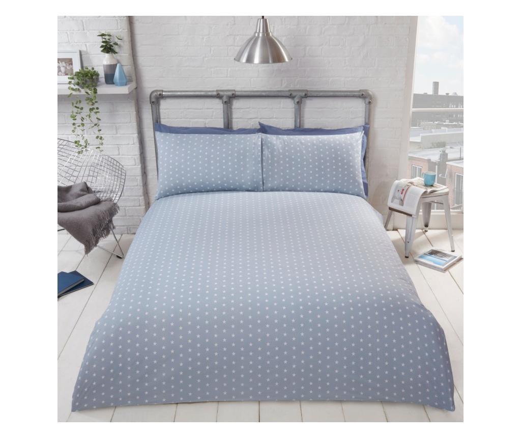 Set de pat Double Oakland Blue imagine
