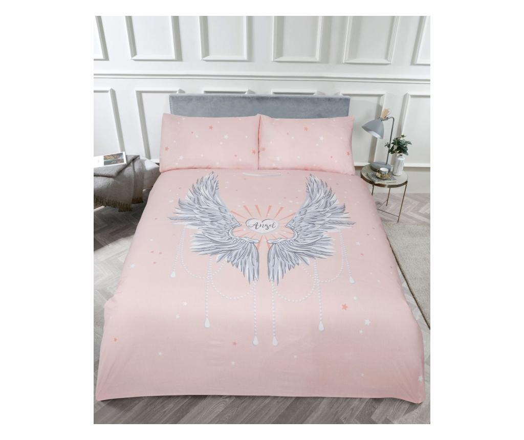Set de pat Double Angel Wings Blush - Rapport Home, Multicolor poza