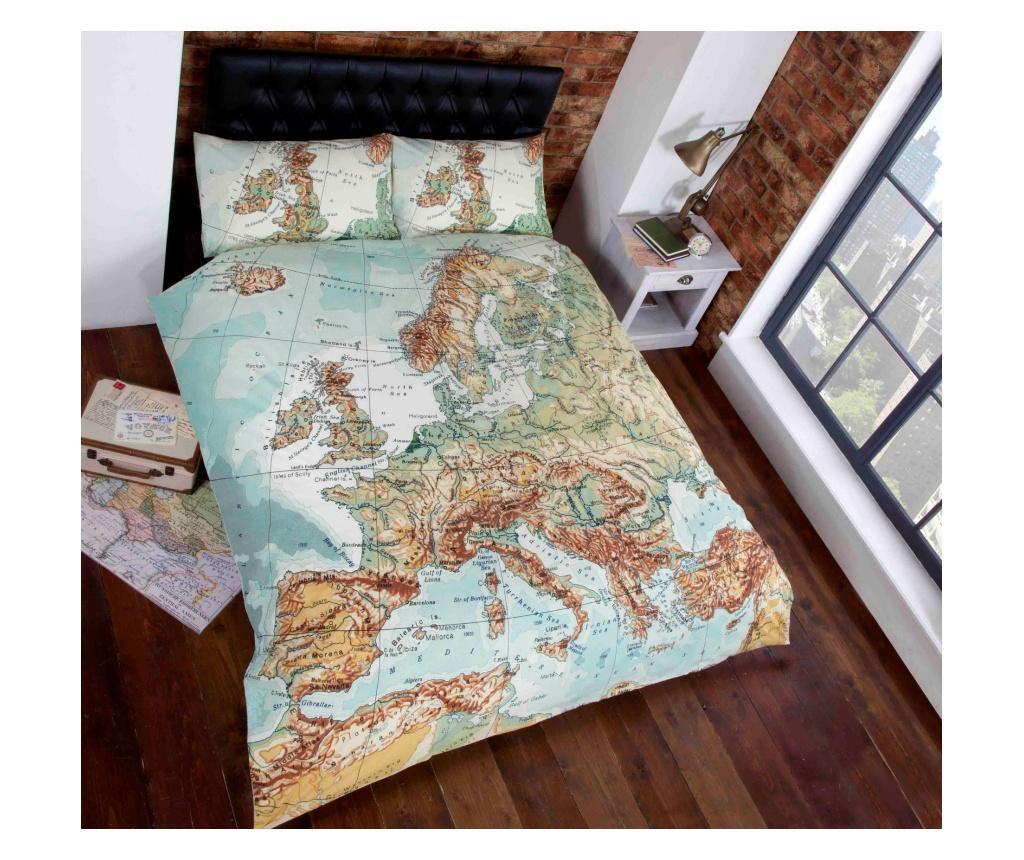 Set de pat Double Map - Rapport Home, Multicolor