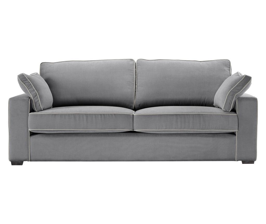 Canapea 3 locuri Serena Grey - Jalouse Maison, Gri & Argintiu