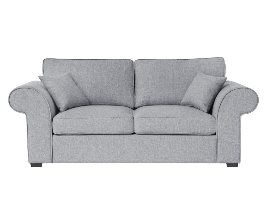 Canapea extensibila 2 locuri Ivy Grey - Jalouse Maison, Gri & Argintiu