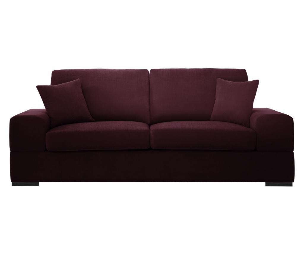 Canapea extensibila 3 locuri Dasha Bordeaux imagine