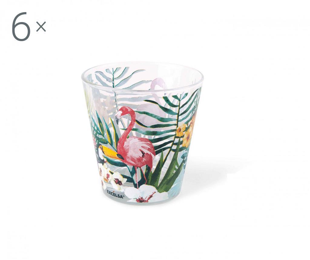 Set 6 pahare Tropical Paradise 250 ml - Excelsa, Alb poza