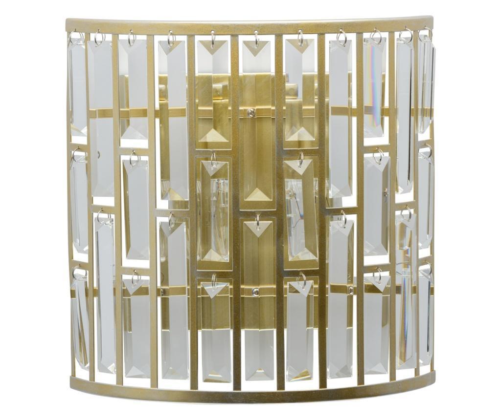 Aplica de perete Monarch - Classic Lighting, Alb,Galben & Auriu imagine