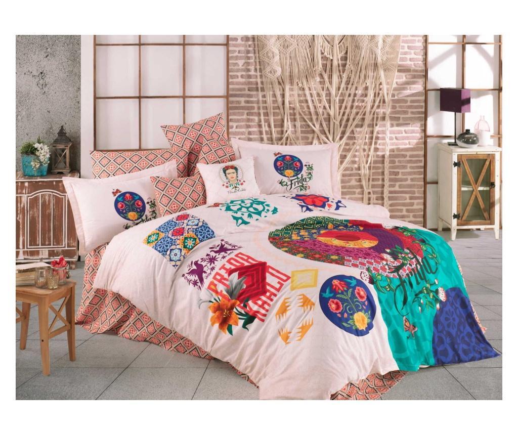 Lenjerie de pat King Supreme Poplin Hobby Frida Kahlo Liberty - Hobby, Multicolor imagine