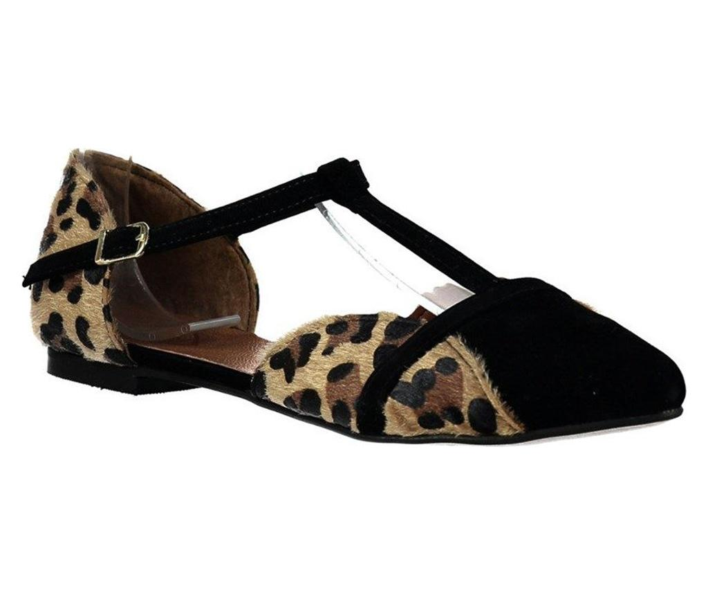 Pantofi dama Fox Shoes Leopard Black 38