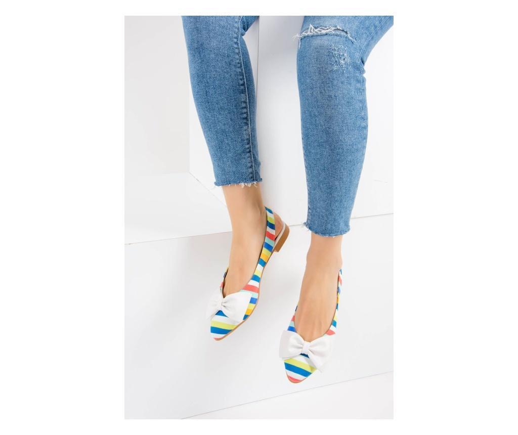 Pantofi dama Fox Shoes Multicolor White 36