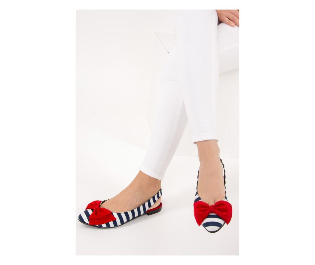 Pantofi dama Fox Shoes Navy Blue White Red 38