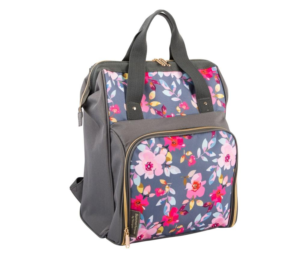 Cos echipat pentru picnic 2 persoane Grey Floral imagine