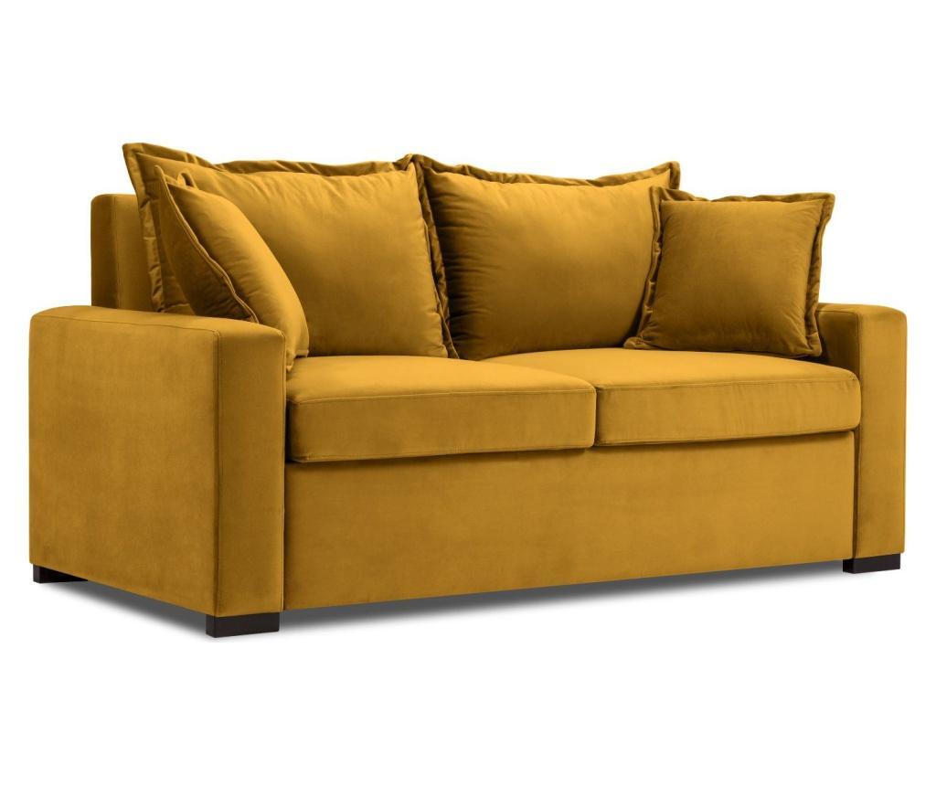 Canapea extensibila 2 locuri Brussels Yellow