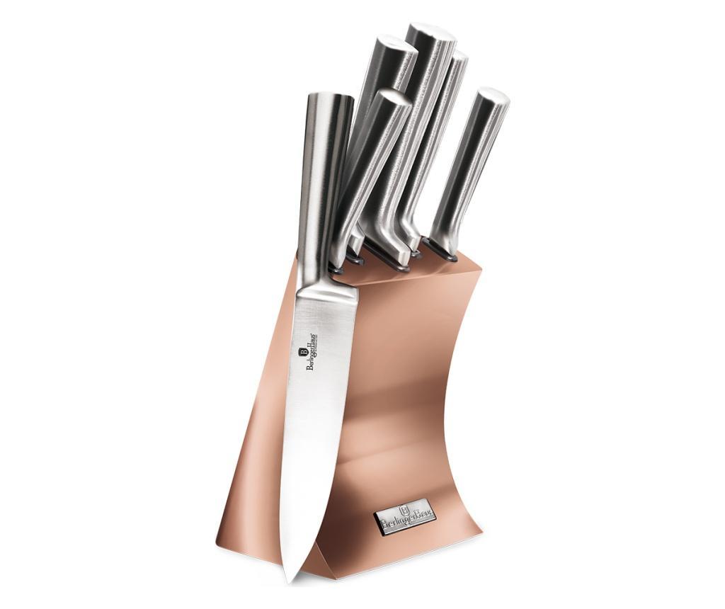 Set 5 cutite cu suport Metallic Rose Gold imagine