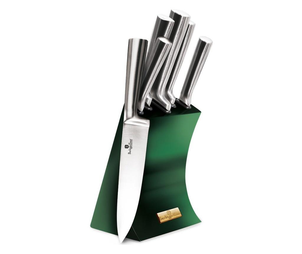 Set 5 cutite si suport Emerald imagine