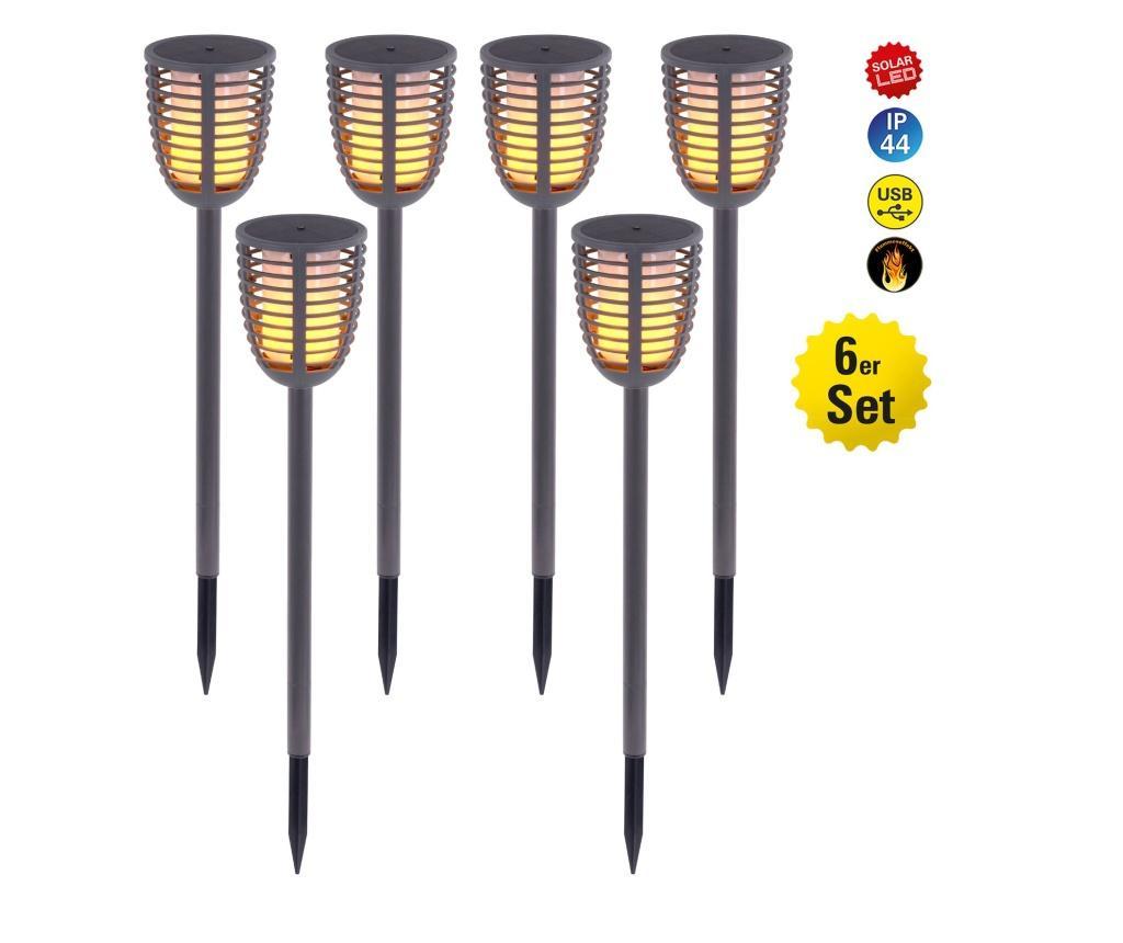 Set 6 lampi solare cu LED Fackel - Näve, Multicolor