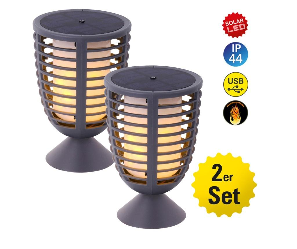 Set 2 lampi solare cu LED Fackel - Näve, Multicolor vivre.ro