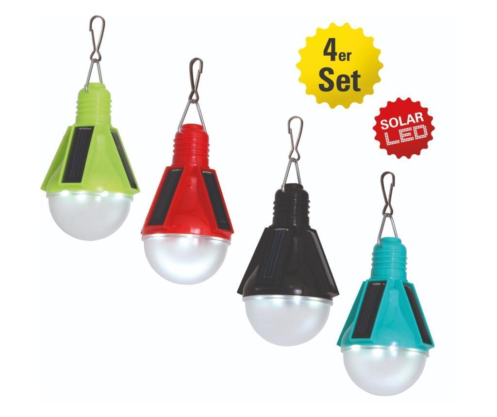 Set 4 lampi solare suspendabile pentru exterior - Näve, Multicolor