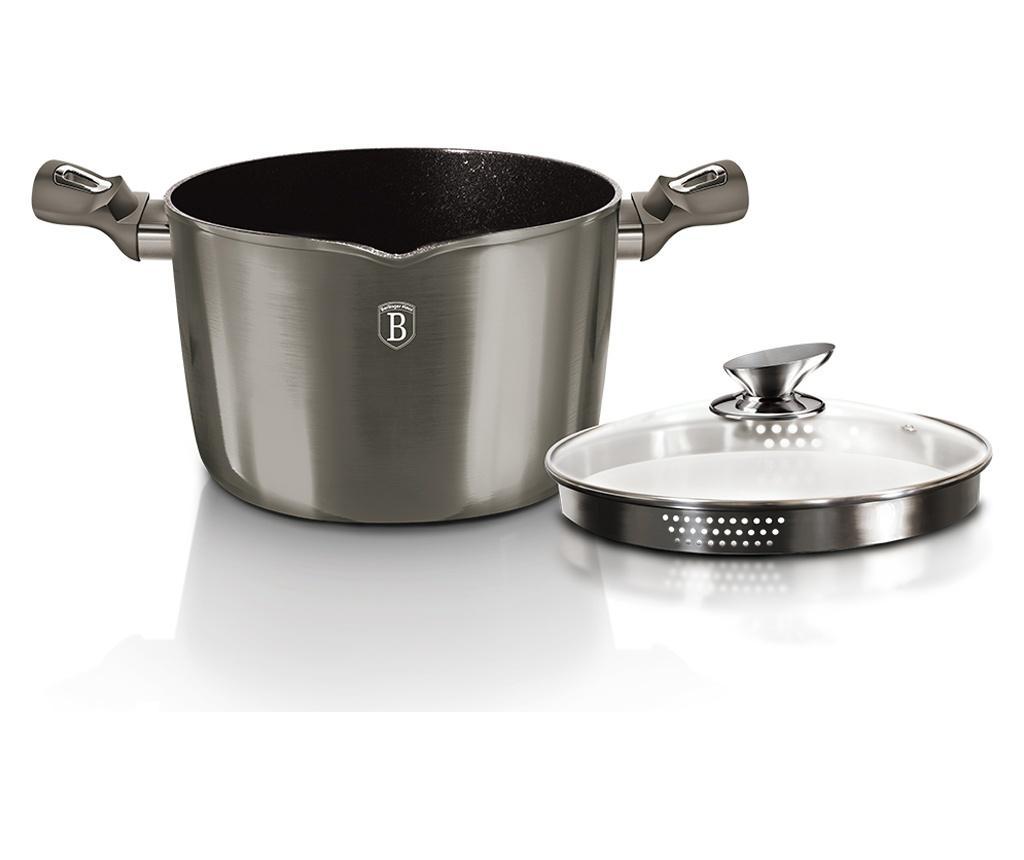 Oala pentru paste si orez cu capac Metallic Carbon