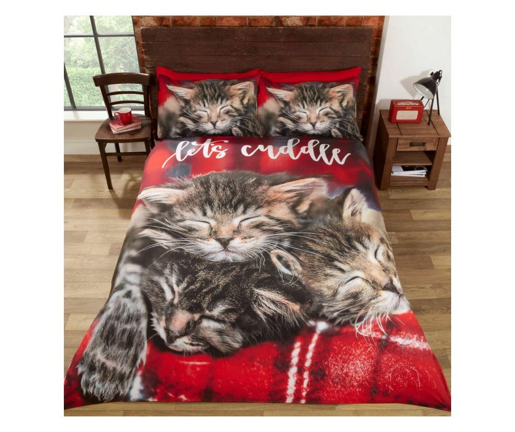 Set de pat Double Extra Cuddle Cats - Rapport Home, Multicolor poza