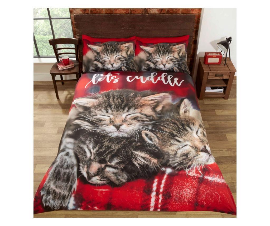 Set de pat Double Cuddle Cats - Rapport Home, Multicolor poza