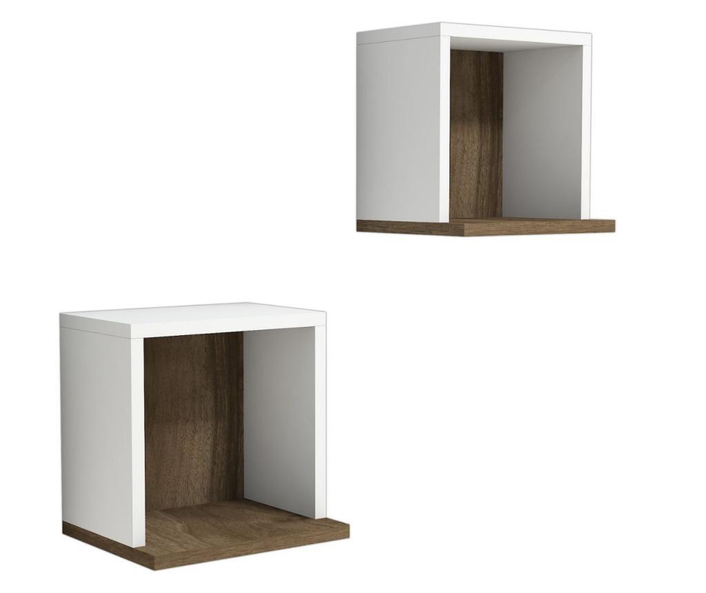 Set 2 rafturi de perete Sevima - Puqa Design