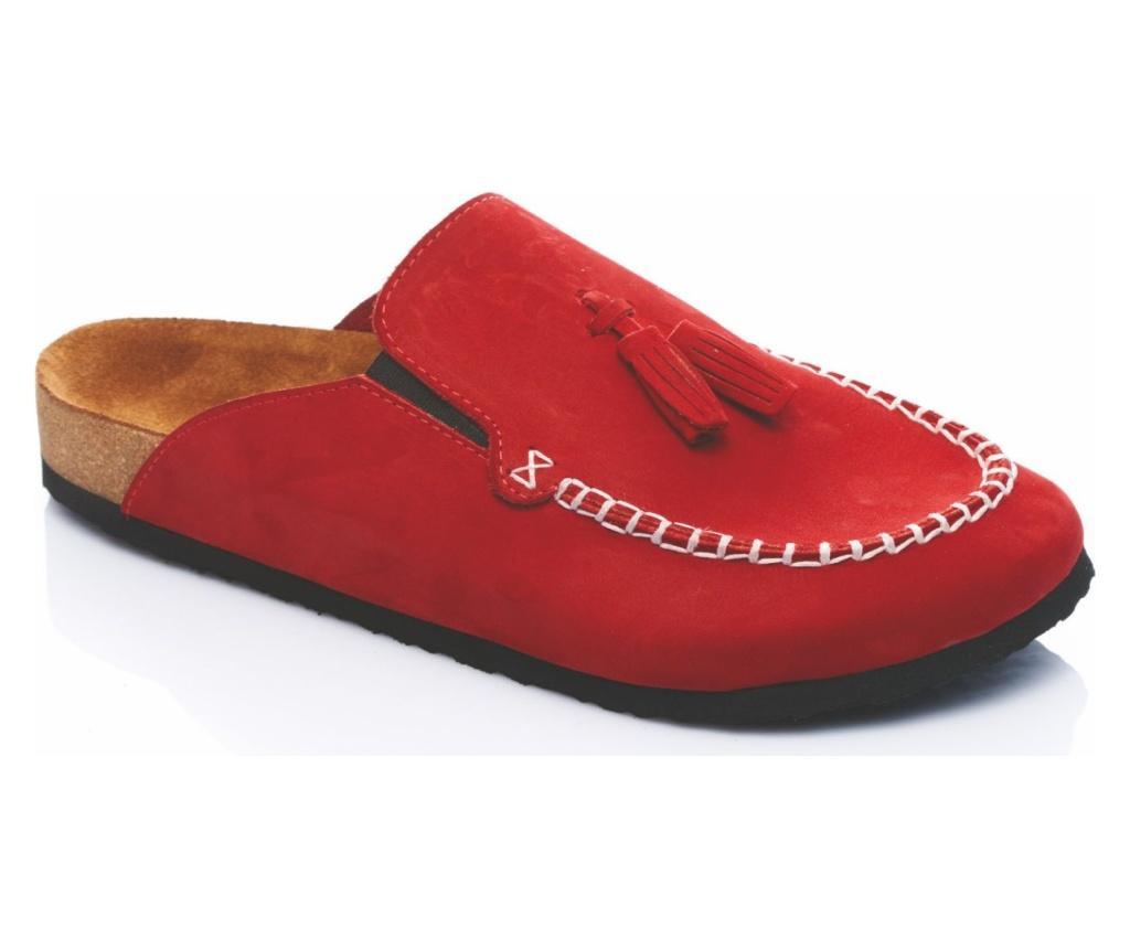 Papuci dama Robin Red 36 - Comfortfüße, Multicolor poza