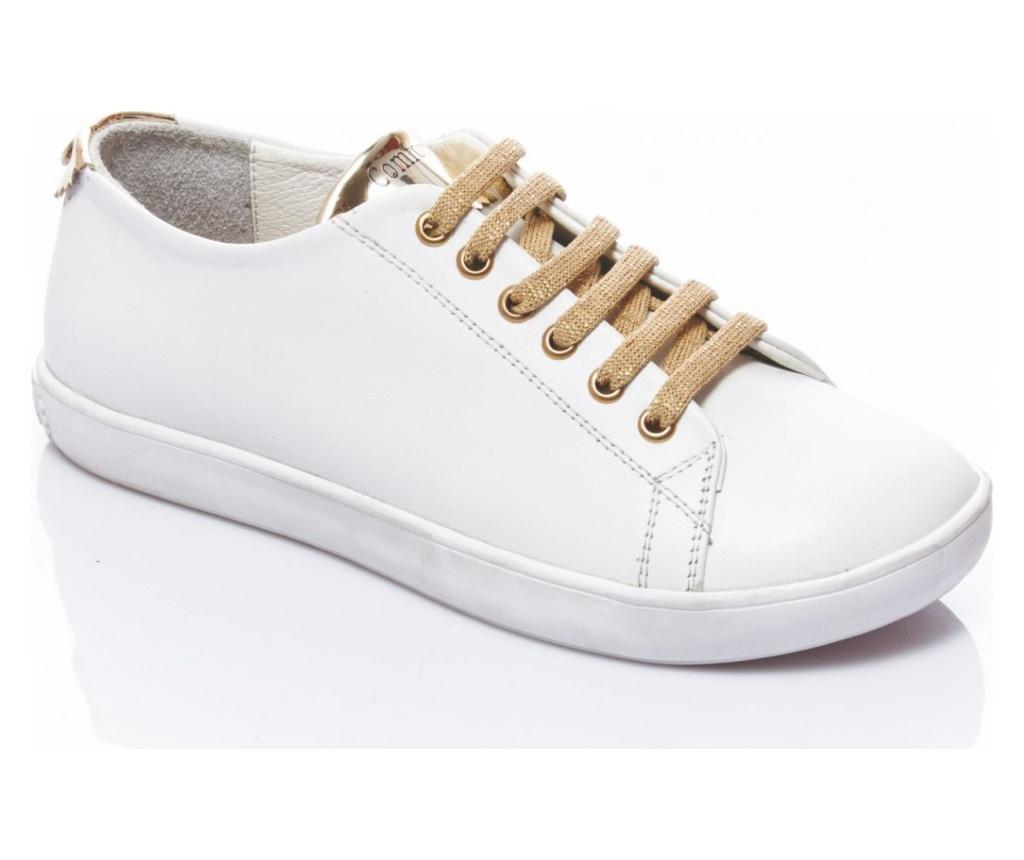 Pantofi sport dama Klara White-Gold 39 - Comfortfüße, Multicolor poza