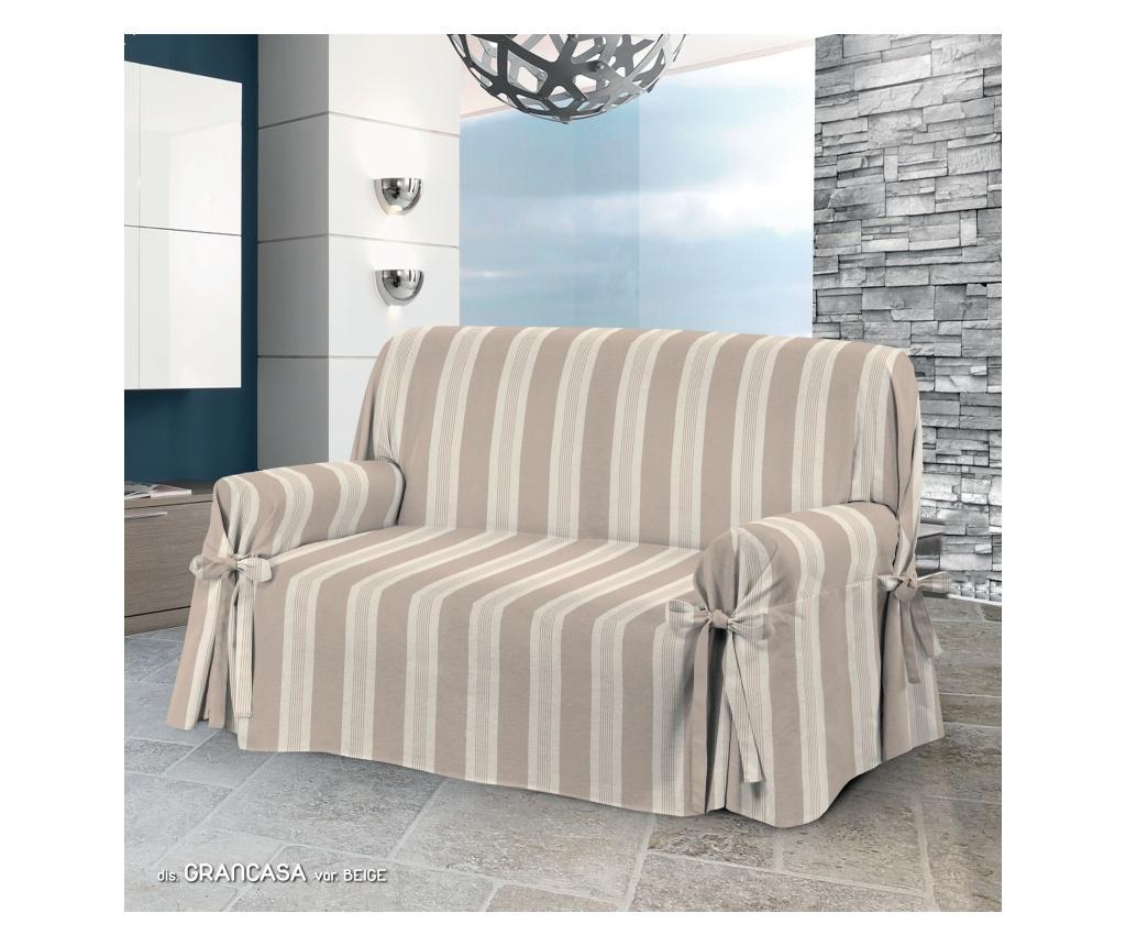 Husa pentru canapea cu 3 locuri Laccetti Grancasa Beige 85x185 cm - Co.Ingros.Tex, Crem vivre.ro