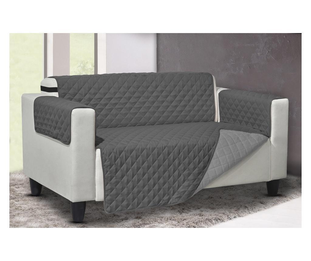 Husa pentru canapea cu 3 locuri Queen Reverse Grey Mix 219x180 cm - Co.Ingros.Tex, Gri & Argintiu imagine