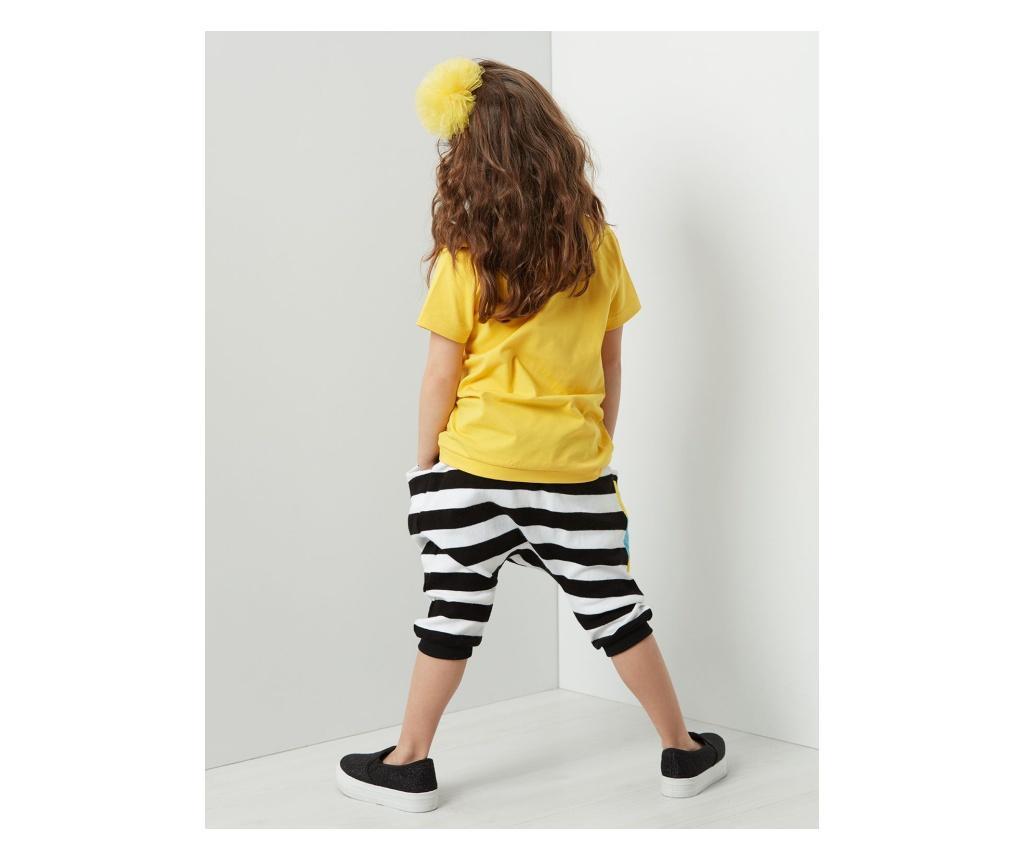 Set tricou si pantaloni trei sferturi pentru copii Bee Maya Baggy 2 years