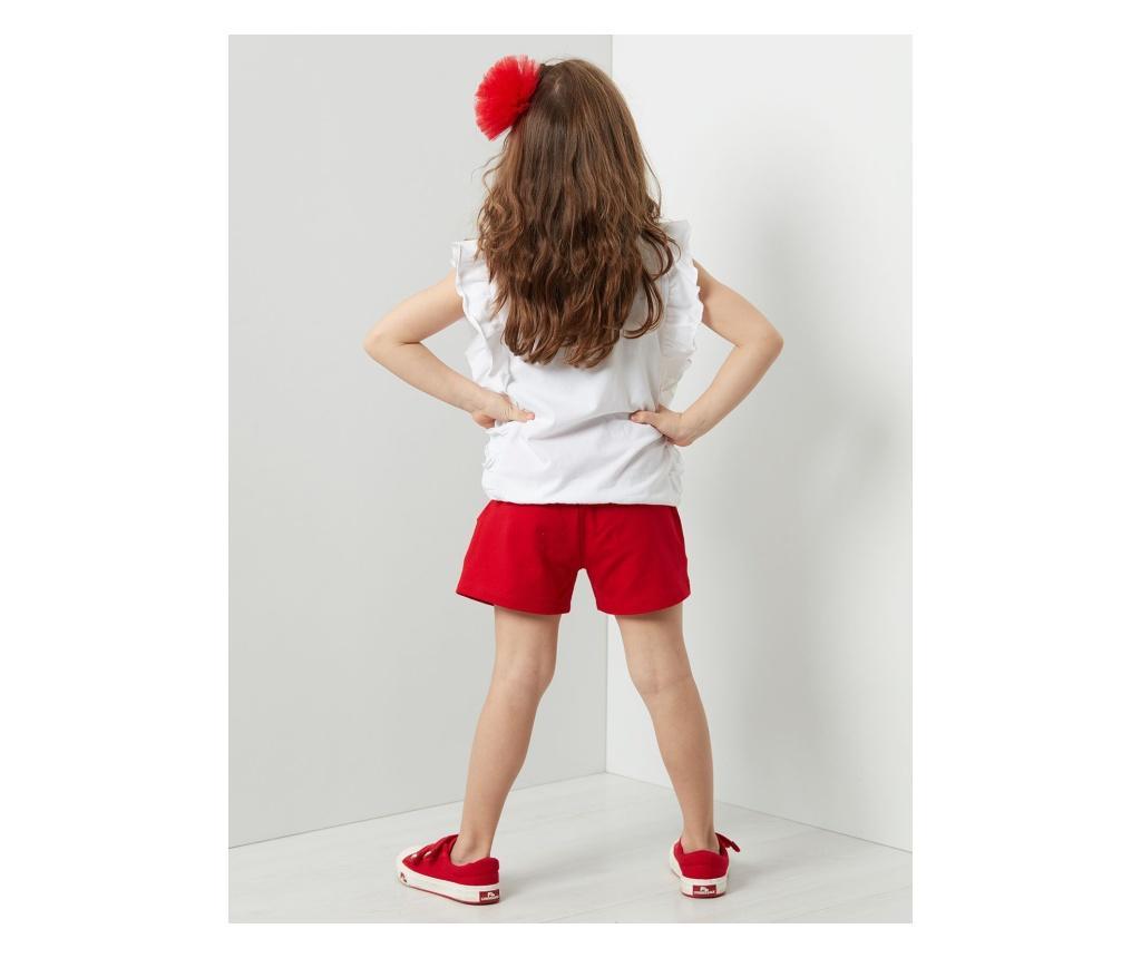 Set tricou fara maneci si pantaloni scurti pentru copii Bug Love 8 years - Denokids, Multicolor vivre.ro