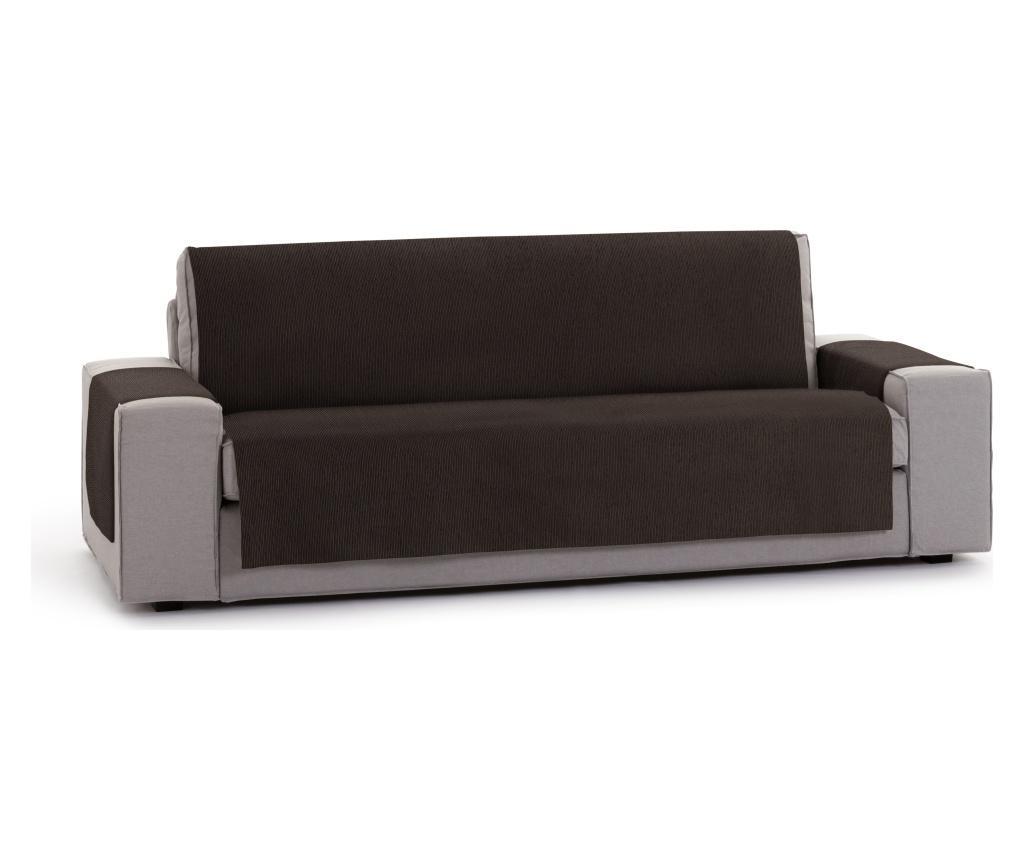 Husa pentru canapea cu 4 locuri Chenille Salva Brown 210-250 cm - Eysa, Maro