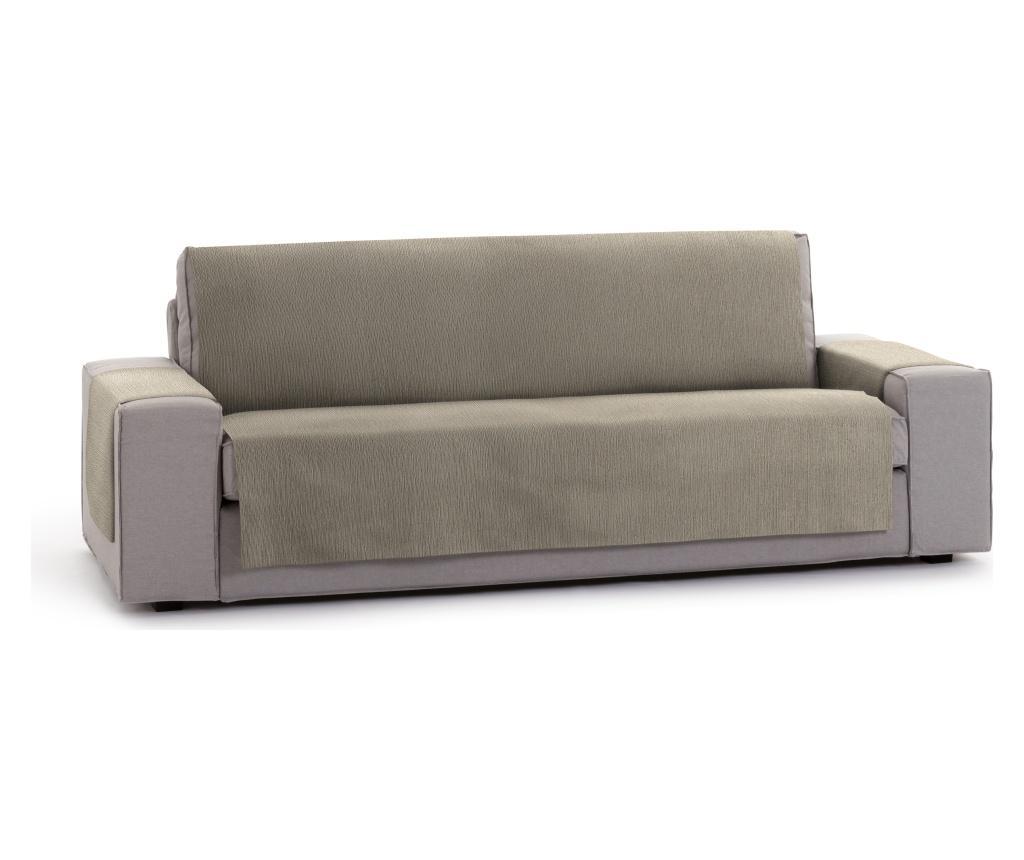 Husa pentru canapea cu 3 locuri Chenille Salva Taupe 170-210 cm imagine